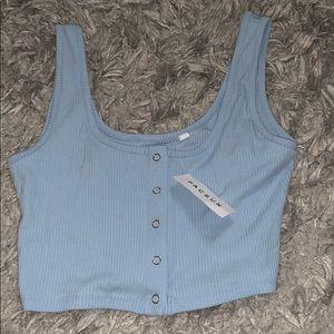 Pacsun light blue crop top
